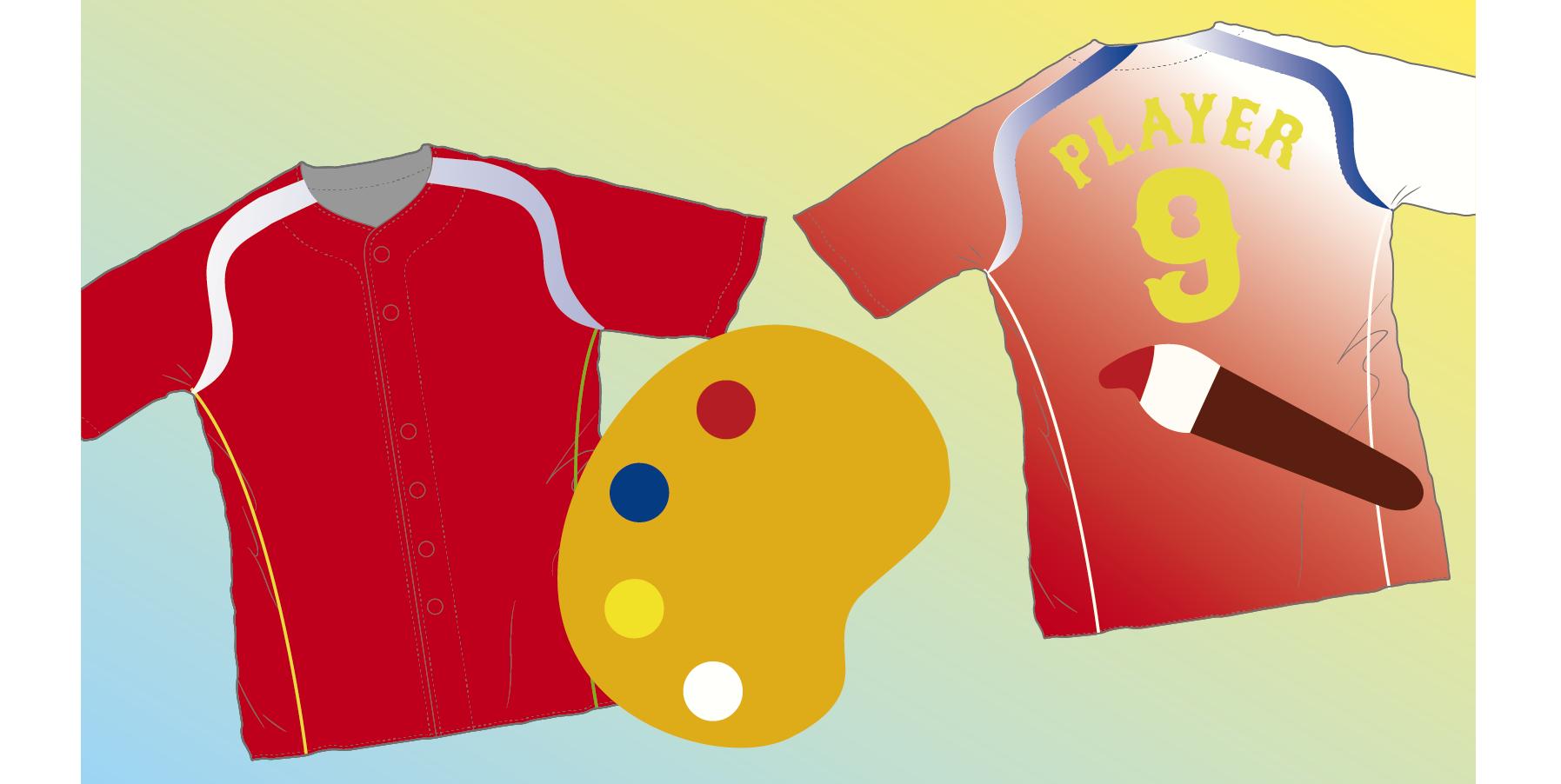 野球ユニフォーム【同じ配色なのに印象が変わる】配色レイアウトの解説's image