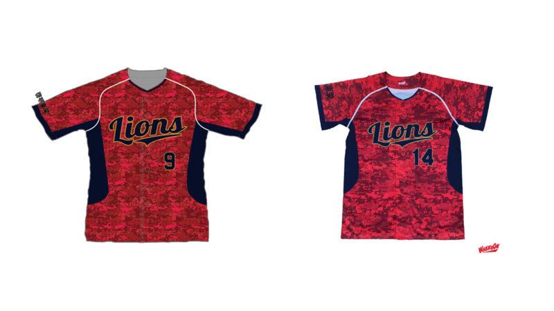 啓明東ライオンズ様のシャツ(表)