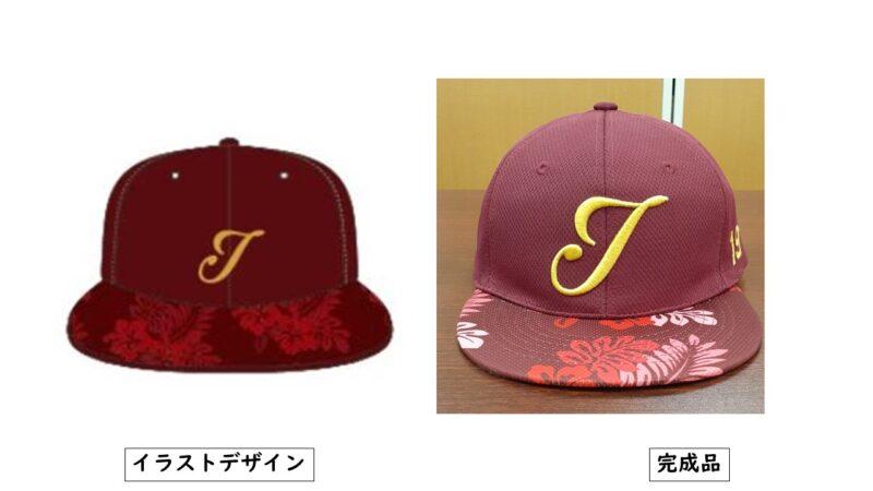 Team J様のキャップ
