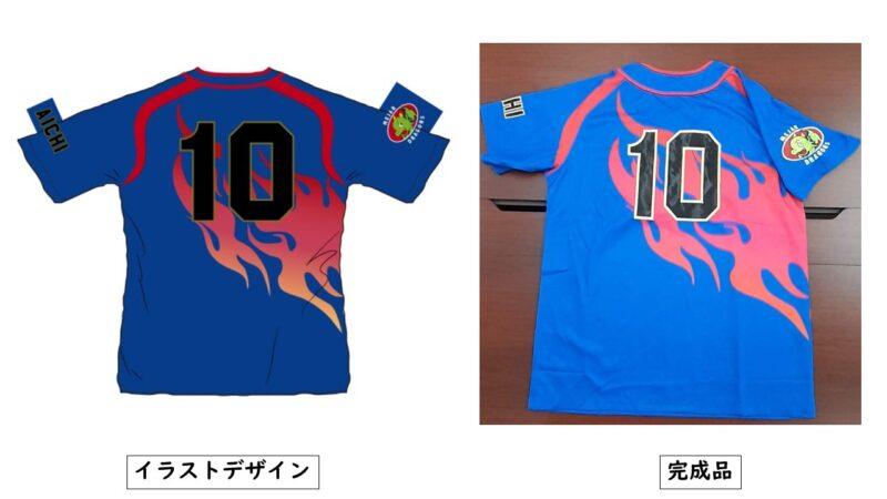 DRAGONS様のシャツ(裏)